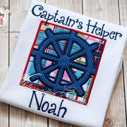 Boys Ship Wheel Shirt Whitesuggar Creations
