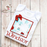 Girls Christmas Snowflake Box Shirt Whitesuggar Creations Boutique