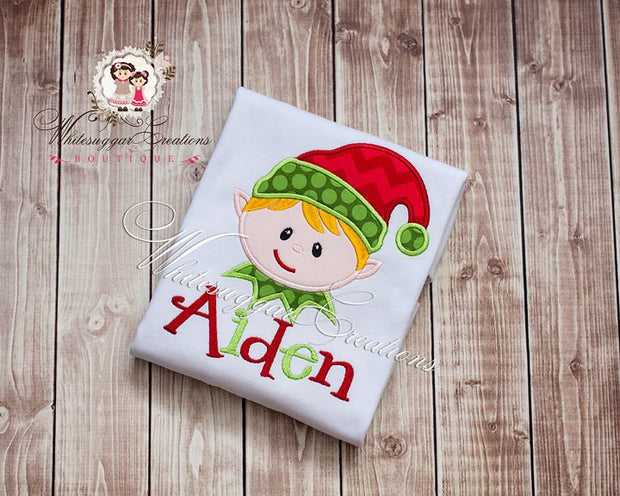 Christmas Elf Boy Shirt - Whitesuggar Creations Boutique