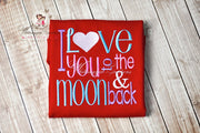 Valentines Day I Love You to the Moon and Back Shirt Girls Shirt Whitesuggar Creations Boutique Red Long Sl Bodysuit 0-3M Bodysuit