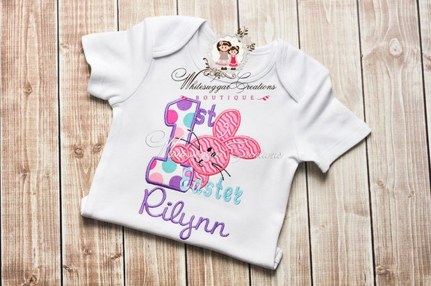 My First Easter Embroidered Shirt - Whitesuggar Creations Boutique
