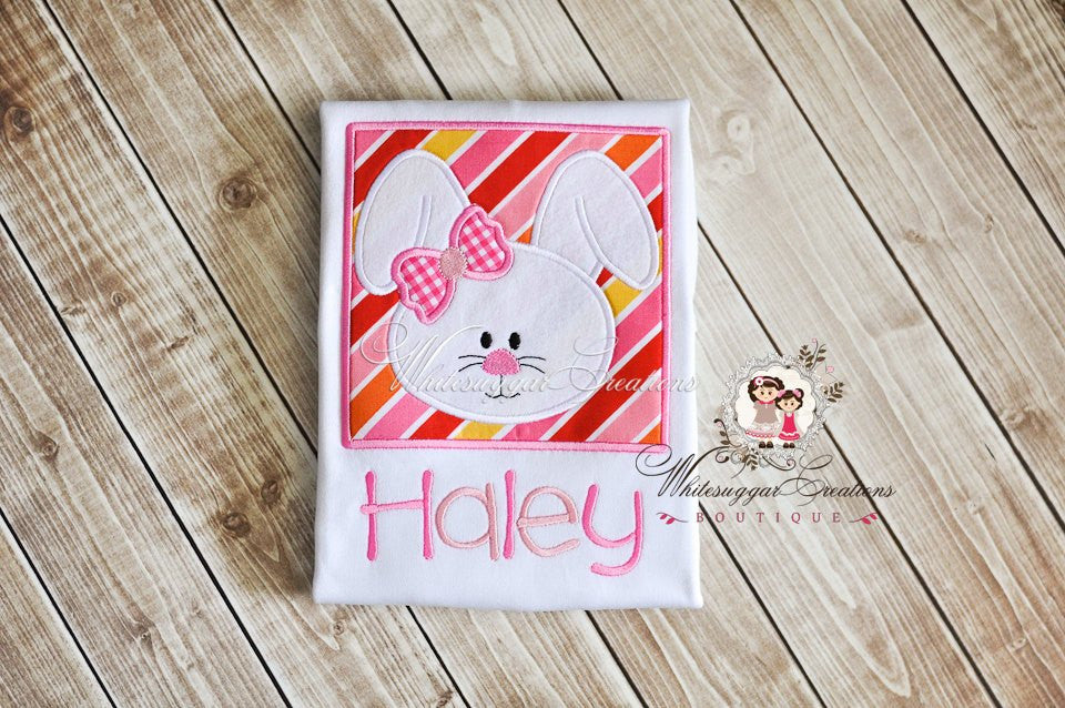 Easter Bunny Framed Face - Whitesuggar Creations Boutique