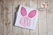 Easter Bunny Ears Monogram Whitesuggar Creations Boutique