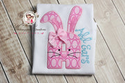 Easter Girly Bunny Alpha Appliqued Shirt Whitesuggar Creations