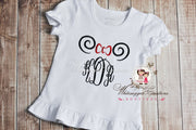 Girl Mouse Ears Monogrammed Shirt - Whitesuggar Creations Boutique