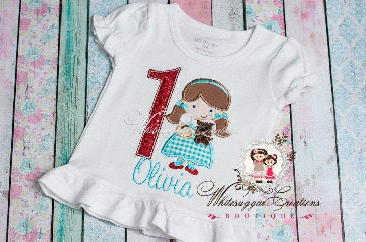 Wizard of Oz Dorothy Birthday Shirt Whitesuggar Creations Boutique