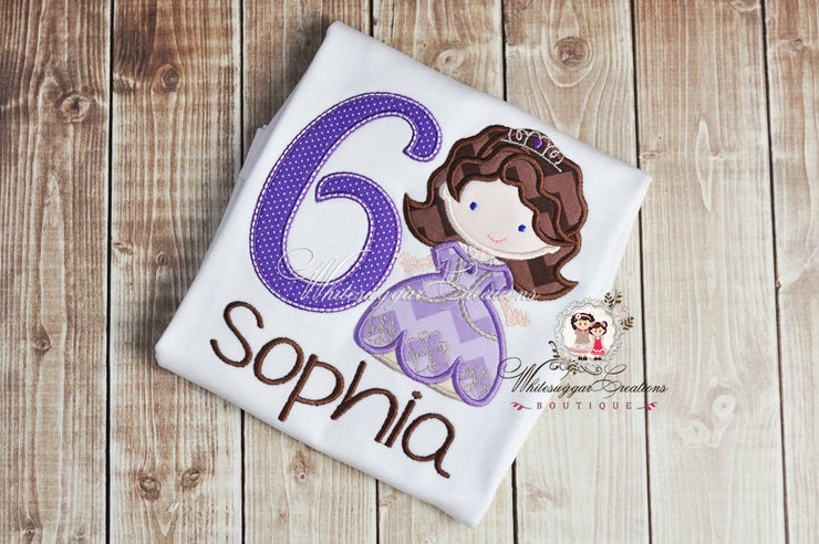 Sophia the First Birthday Shirt Whitesuggar Creations