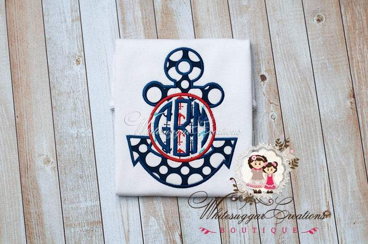 Boy Anchor T-Shirt Whitesuggar Creations Boutique