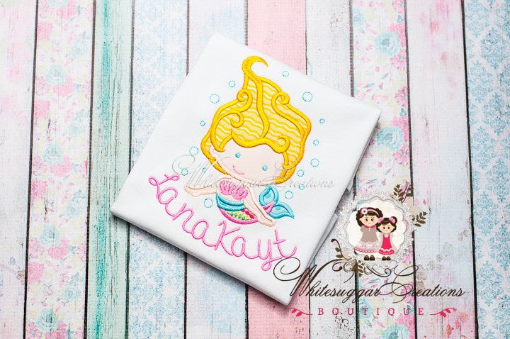 Girls Mermaid Bubbles Shirt Girls Shirt Whitesuggar Creations