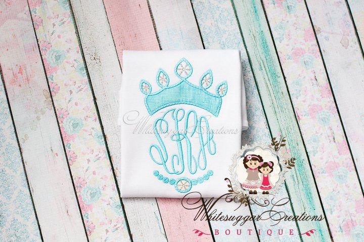 Ice Princess Monogrammed Shirt Whitesuggar Creations