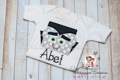 Halloween Vampire Personalized Shirt - Custom Dracula Shirt - Infant Halloween Shirt - Holiday Outfit - Baby First Halloween - Whitesuggar Creations Boutique