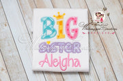 Big Sister/Little Sister Shirt Whitesuggar Creations