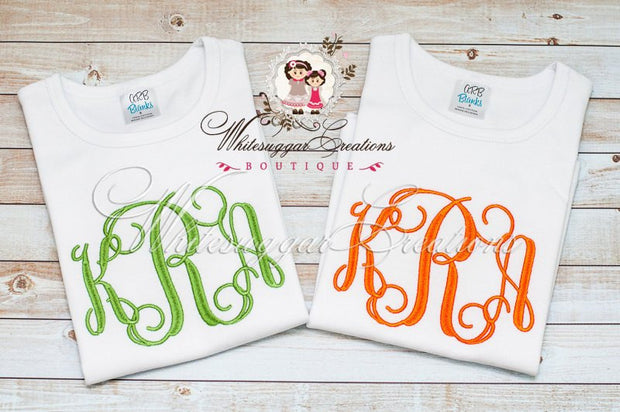 Large Elegant Monogram Embroidered Shirt Whitesuggar Creations