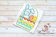 Easter Bunny in a Basket Appliqued Shirt for Boys Whitesuggar Creations