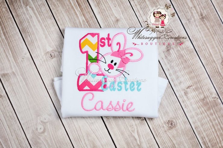 My First Easter Appliqued Shirt for Girls Whitesuggar Creations