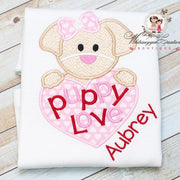 Valentines Day Puppy Love Shirt Whitesuggar Creations Boutique