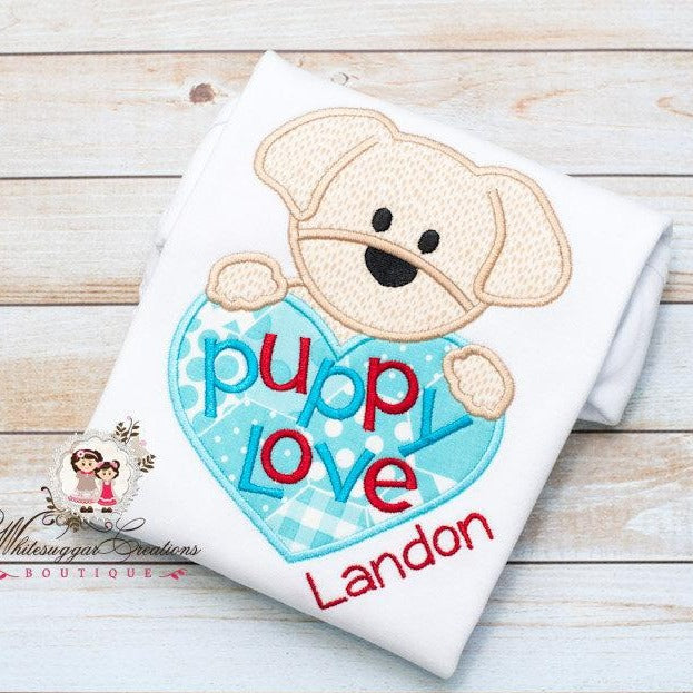 Baby Boys Puppy Love Shirt Whitesuggar Creations Boutique