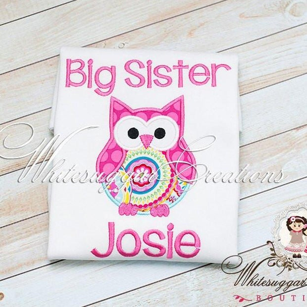 Big Sister Owl Shirt - Whitesuggar Creations Boutique