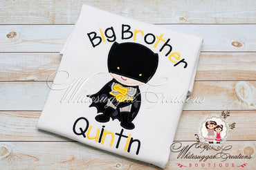 Bat Boy Shirt - Super Hero Siblings Shirt - Whitesuggar Creations Boutique