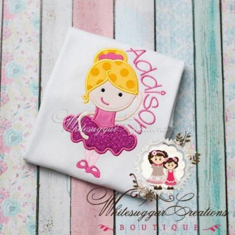 Ballerina Shirt Baby Girl Whitesuggar Creations