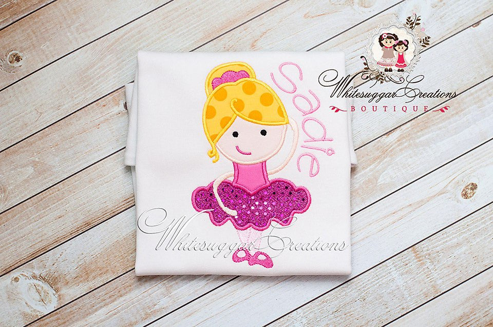 Ballerina Girl Shirt Ballet - Recital Outfit - Girl Dance Shirt - Whitesuggar Creations Boutique