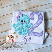 Under The Sea Birthday Shirt or Bodysuit for Girls