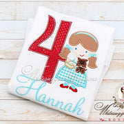 Cutie Dorothy with Puppy Birthday Shirt - Whitesuggar Creations Boutique