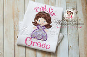 Princess Sophia Big Sister Shirt Baby Girl Whitesuggar Creations