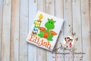 Green Dragon Birthday Shirt Whitesuggar Creations Boutique