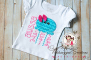 Girl Jelly Fish Shirt Whitesuggar Creations