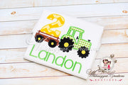 Tractor Birthday Boy Shirt Whitesuggar Creations