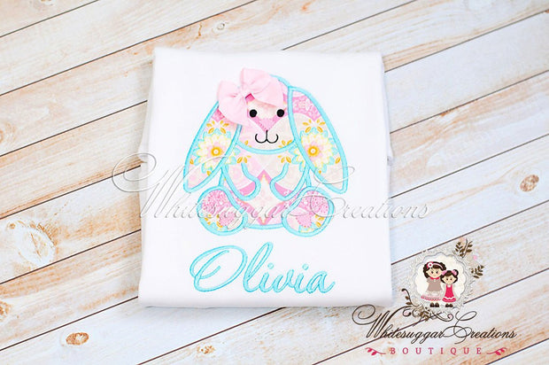 Baby Vintage Easter Bunny Shirt - Whitesuggar Creations Boutique