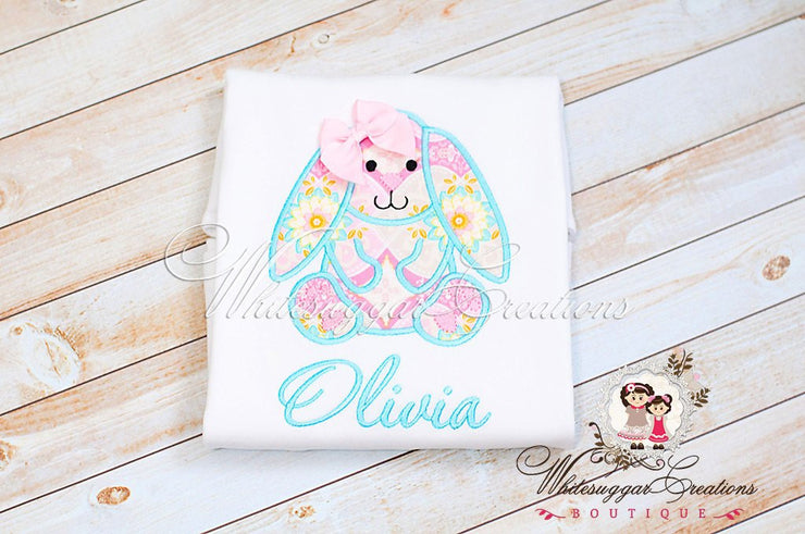 Baby Vintage Easter Bunny Shirt Whitesuggar Creations