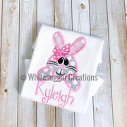 Easter Bunny Face Shirt for Girls Whitesuggar Creations