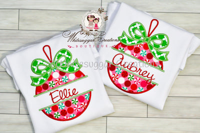 Girls Christmas Ornament Shirt