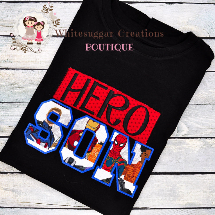 Super Hero Son Avengers Shirt Boys Shirts Whitesuggar Creations