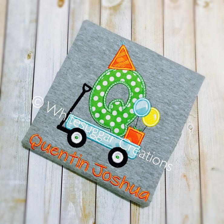 Birthday Wagon Embroidered Shirt Boys Shirts, birthday shirts Whitesuggar Creations Boutique