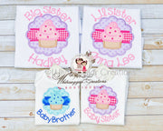 New Baby Personalized Siblings Set Whitesuggar Creations