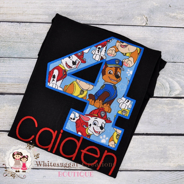 Paw Patrol Birthday Shirt Boys Shirts Whitesuggar Creations