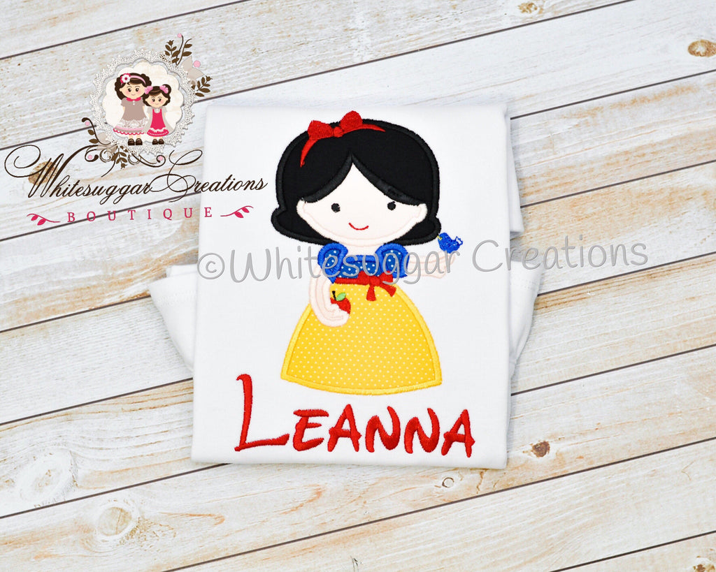 baby girl snow white shirt