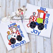 Big Brother Or Little Brother Boys Train Shirt - Siblings Boys Shirt Whitesuggar Creations