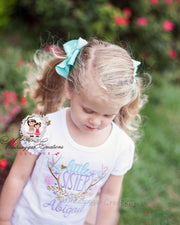 Antlers Little Sister Personalized Shirt Girls Shirt Whitesuggar Creations