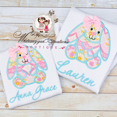 vintage bunny girls easter shirt