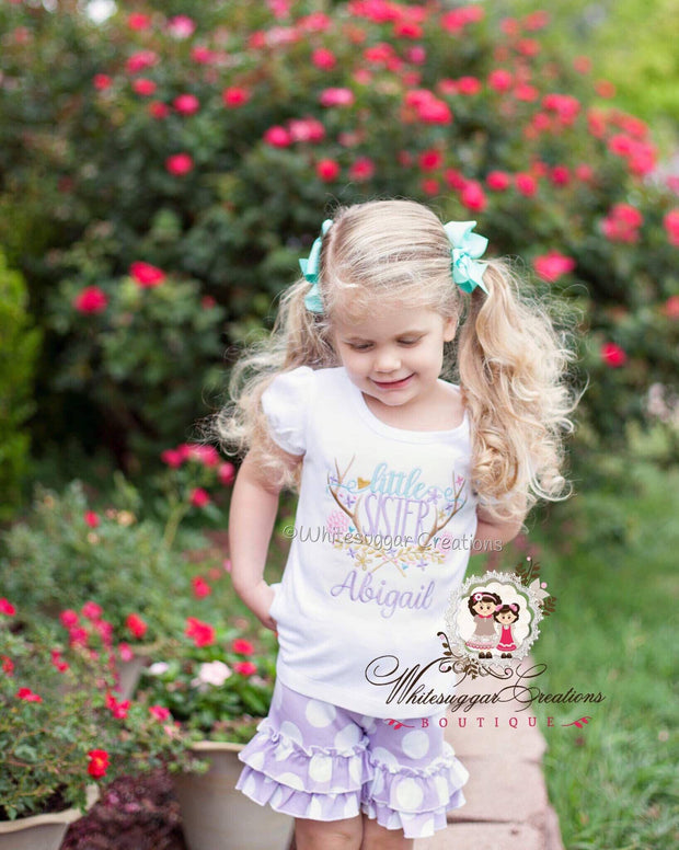 Antlers Little Sister Personalized Shirt