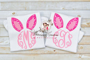 girls bunny monogrammed shirt