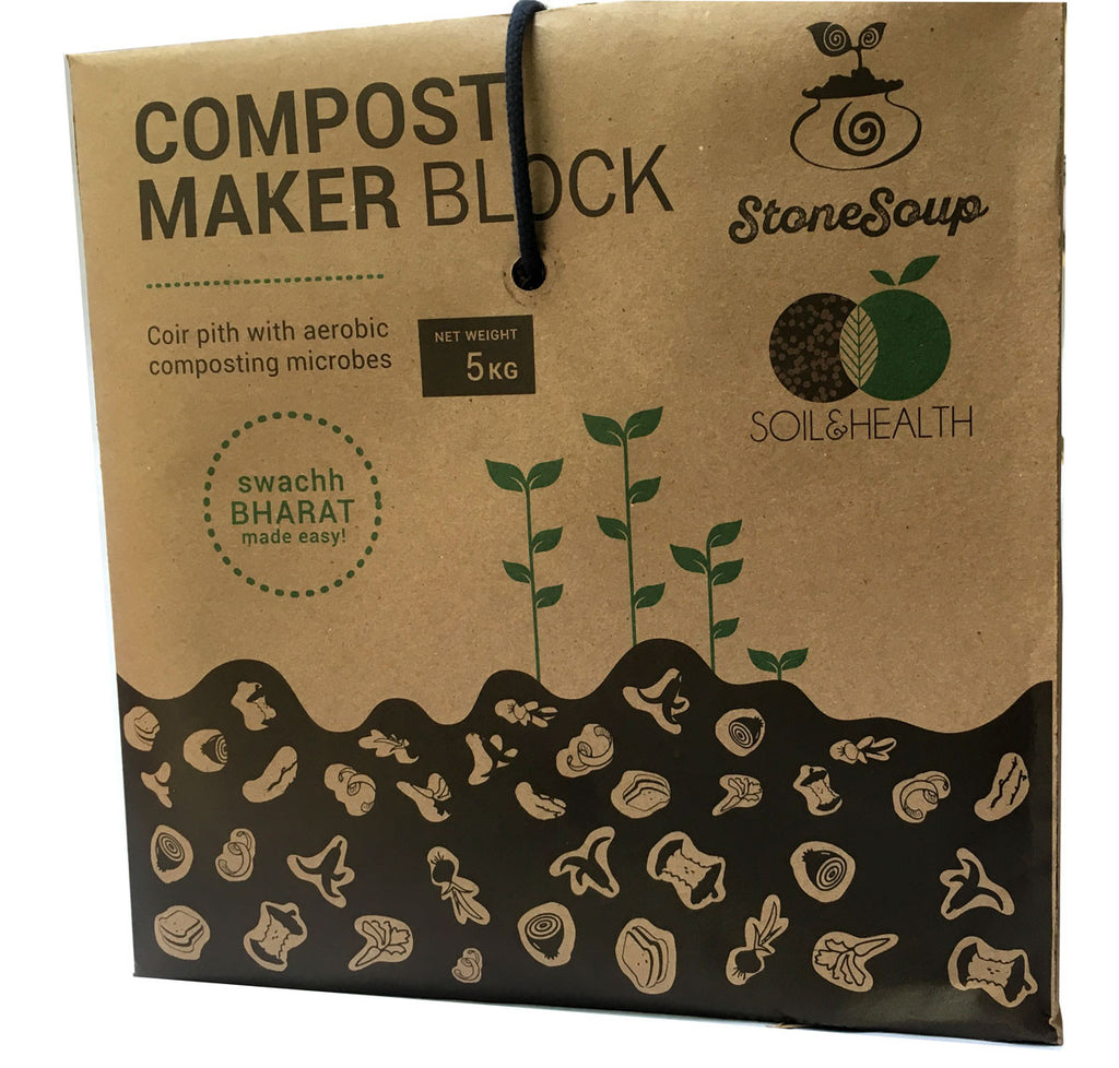 Compost Maker Block  [Aerobic Composting] : 5Kg - Stonesoup Shop