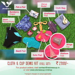 Cup and Cloth Full Set Demo Kit