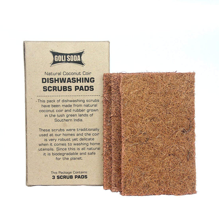 Goli Soda - Natural Coconut Coir Dishwashing Scrub Pads (Set of 6)