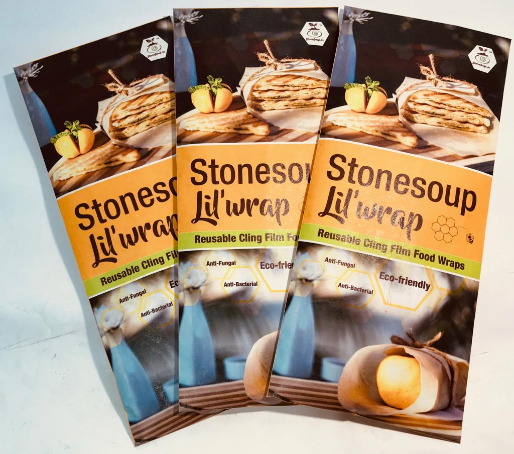 STONESOUP LIL'WRAP-REUSABLE CLING FILM FOOD WRAPS - Stonesoup Shop