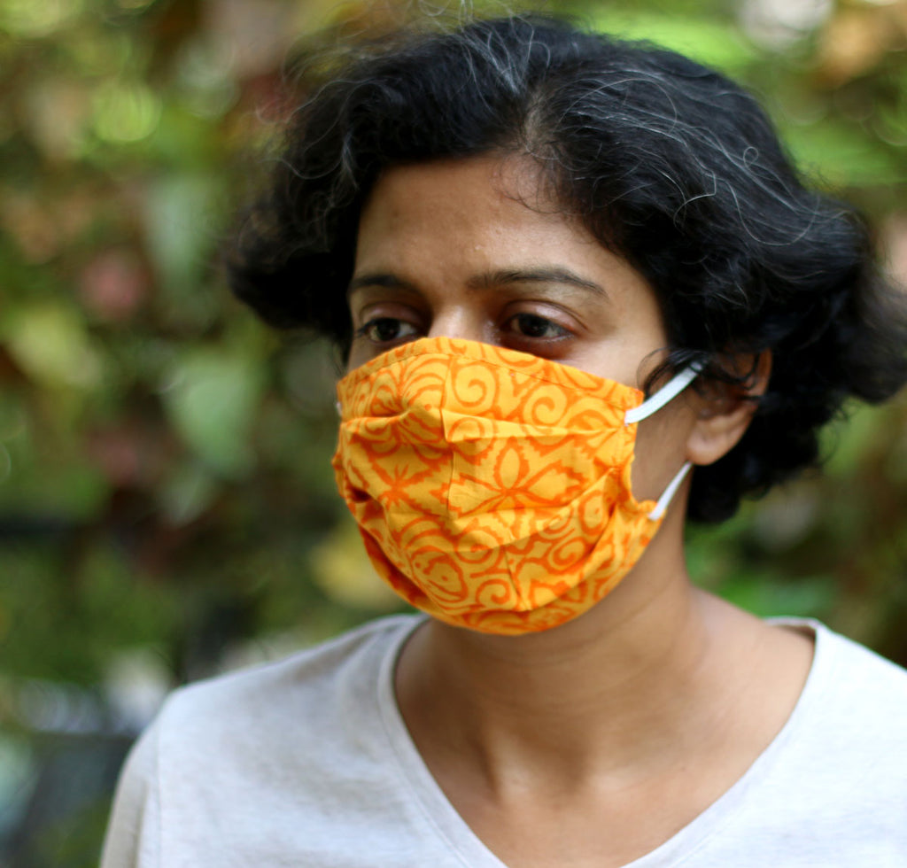 Cloth Face Masks - Elastic Assorted Coloured (set of 5) - Adult - Stonesoup Shop